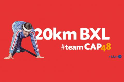 20km de Bruxelles : comme chaque année les coureurs de la RTBF porteront les couleurs de CAP48 !
