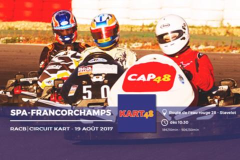 3ème édition des KART48,  24h de karting à Francorchamps au profit de CAP48