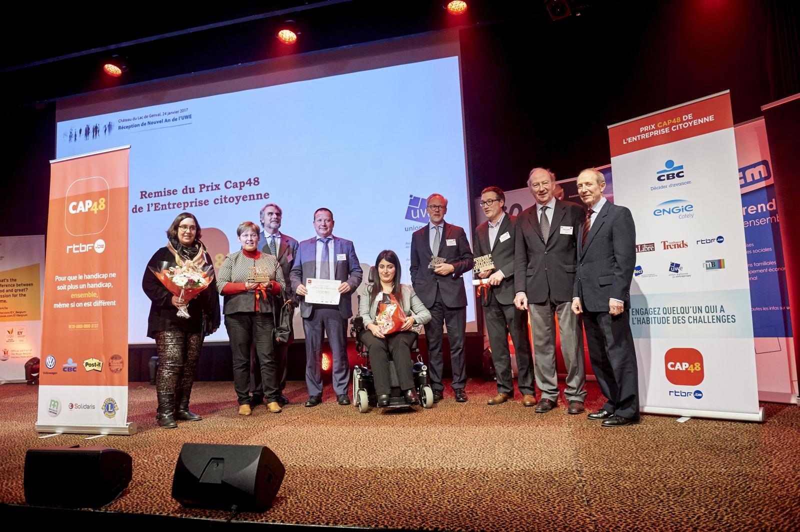 Emploi et handicap entreprises recompensees en 2017 en Belgique
