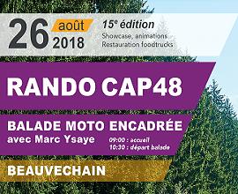 Balade moto de CAP48, rendez-vous le 26 août!